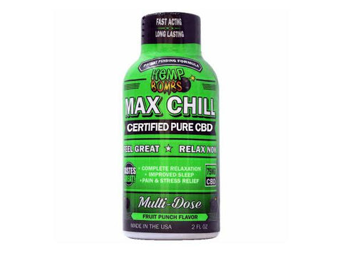 Hemp Bombs Max Chill Pure CBD Shot 75MG - Vaporider