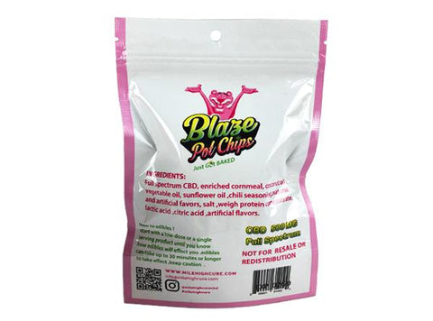 Mile High Cure Full Spectrum 500MG Blaze Pot Chips - Vaporider