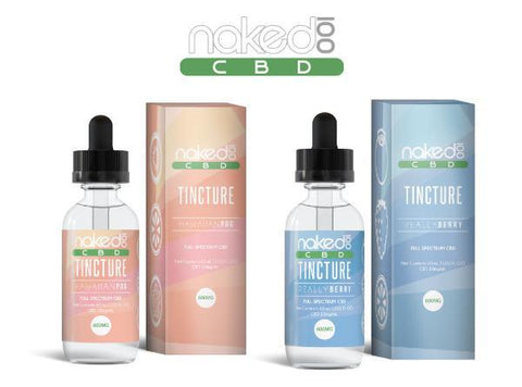 Naked 100 60ML Full Spectrum CBD Tincture 600MG/1200MG - Vaporider