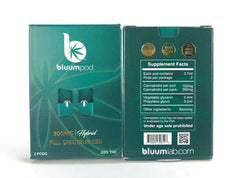 BluumLab Full Spectrum 300MG CBD Cartridge (2pcs) - Vaporider