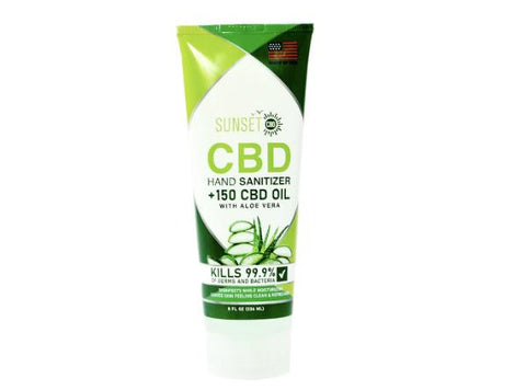 SUNSET 8oz CBD Hand Sanitizer with Aloe Vera - Vaporider