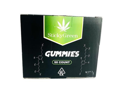 Sticky Green Single Pack Delta 8 Gummies (2packs)