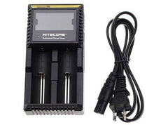 NITECORE D2 2-Slot Digital Battery Charger w/ LCD Display Screen