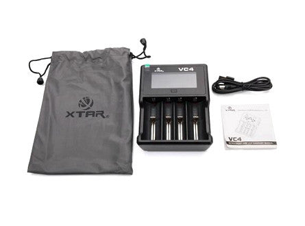 XTAR VC4 LCD Screen USB Li-ion/Ni-MH Battery Charger