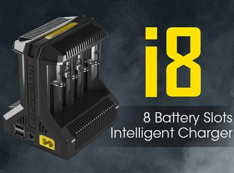 Nitecore Intellicharger i8 8-Bay Battery Charger - Vaporider