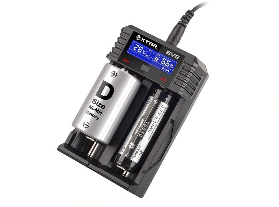XTAR ROCKET SV2 LCD Screen Fast-Charging Li-ion/Ni-MH Battery Charger - Vaporider