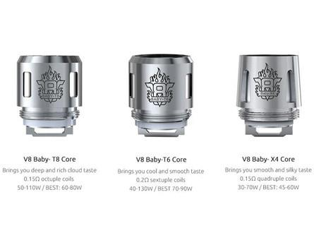 SMOK TFV8 Baby Coils T12/T8/T6/X4/Q2/M2/Mesh (5pcs) - New Mesh Coils Available - Vaporider