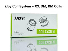 iJoy Katana/Diamond/Captain Replacement Coils (3pcs) - Vaporider
