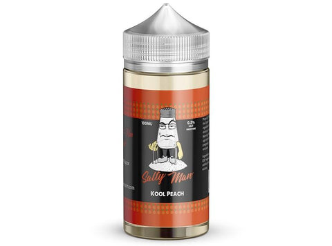 Salty Man 30mL 5% Nicotine Salt E-Liquid - Kool Peach - Vaporider