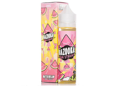 Bazooka Sour Straws 100mL - Watermelon (New Look, Same Great Flavor) - Vaporider