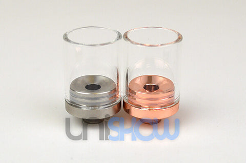 Clear Pyrex 22 mm Large Bore Hurricane Drip Tips - Vaporider
