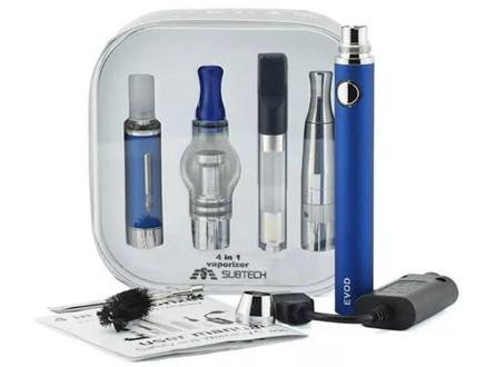 Subtech EVOD 4-in-1 Vaporizer Starter Kit E-Liquid/Dry Herb/Wax/Thick Oil