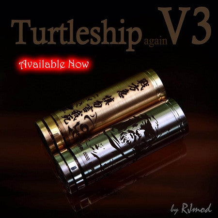 Authentic Turtleship V3 by RJMOD (Kick Module for Mechanical MOD) - Vaporider