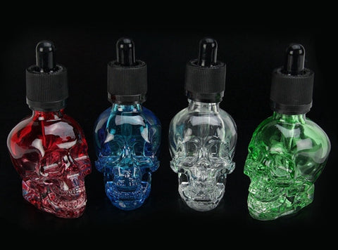 30mL Skull Shaped Glass Dropper Bottle - Vaporider
