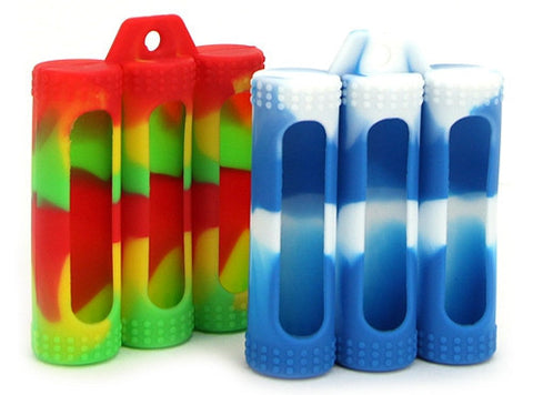 3 x 18650 Battery Silicone Protective Sleeve Case