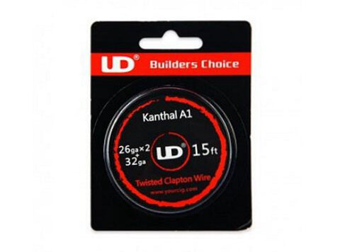 15ft UD Kanthal A1 Twisted Clapton Wire 26GA x 2 + 32GA - Vaporider