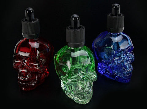 60mL Skull Shaped Glass Dropper Bottle - Vaporider