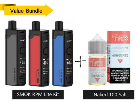 SMOK RPM Lite Pod Mod Kit + Naked 100 Salt 30mL E-Liquid - Vaporider