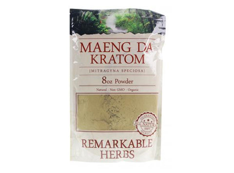 Remarkable Herbs Maeng Da Kratom Powder 8 oz Bag - Vaporider