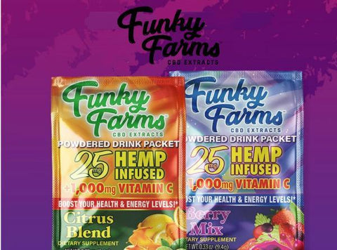 Funky Farms 25MG CBD Powdered Drink Packet - Vaporider