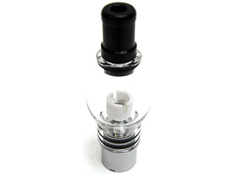 V7 Glass Globe Ceramic Dual Coil Wax Atomizer