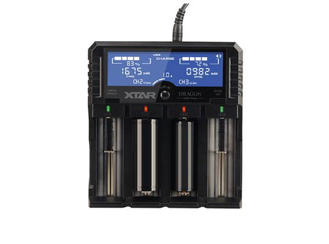 XTAR Dragon VP4 Plus Premium LCD Li-ion/Ni-MH Battery Charger - Vaporider