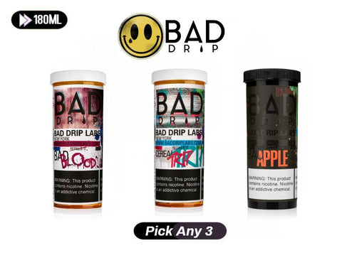 Bad Drip E-Liquid Pick Any 3 Bundle