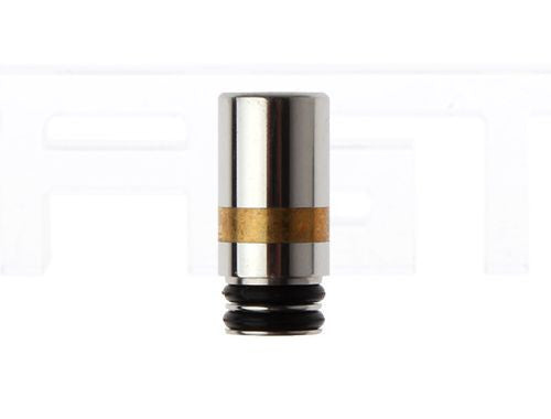 Gold/Silver Stainless Steel 510 Drip Tip - Vaporider
