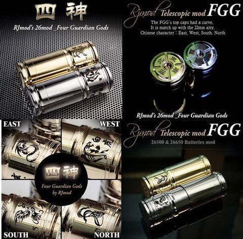 Authentic Four Guardian Gods - FGG Mod by RJMOD 26650 (with Free Kick Module for Mechanical MOD) - Vaporider