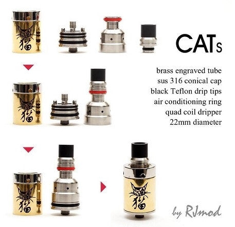 Authentic CATS Dripper by RJMOD - Vaporider
