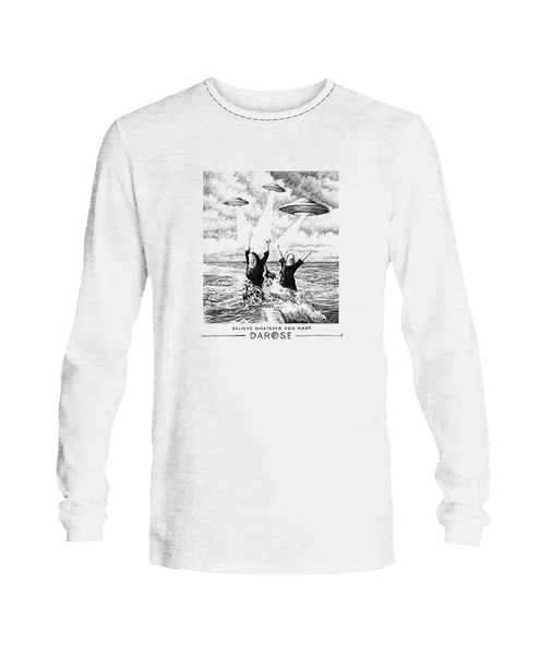 T- shirt Long sleeve men Believe White