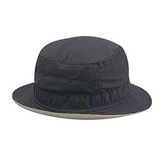 MICROFIBER REVERSIBLE BUCKET HAT COLOR  BLACK