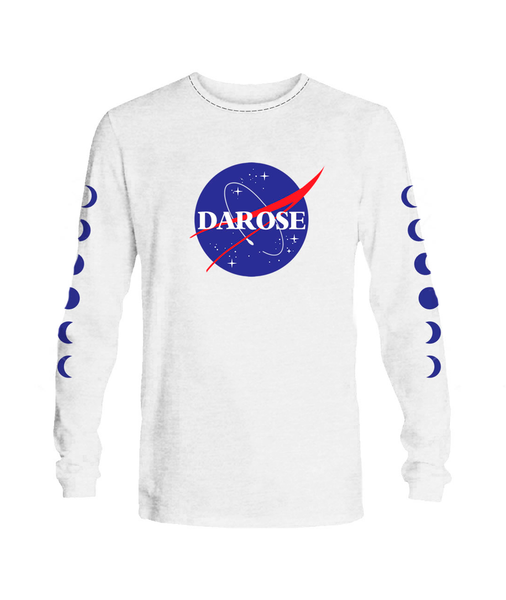 T- shirt Long sleeve men nasa white