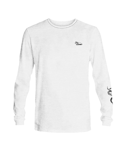 T- shirt Long sleeve men Sinner White