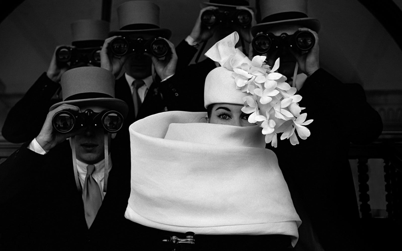 Frank Horvat: 1958, Paris, for Jardin des Modes, Givenchy hat B | Platinum Print | Lenscloud