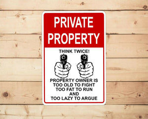 Private Road Residents and Guest Only No Trespassing Aluminum sign