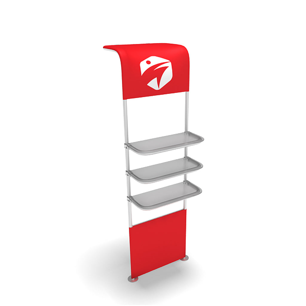 WaveLine® Waterfall Display Shelving