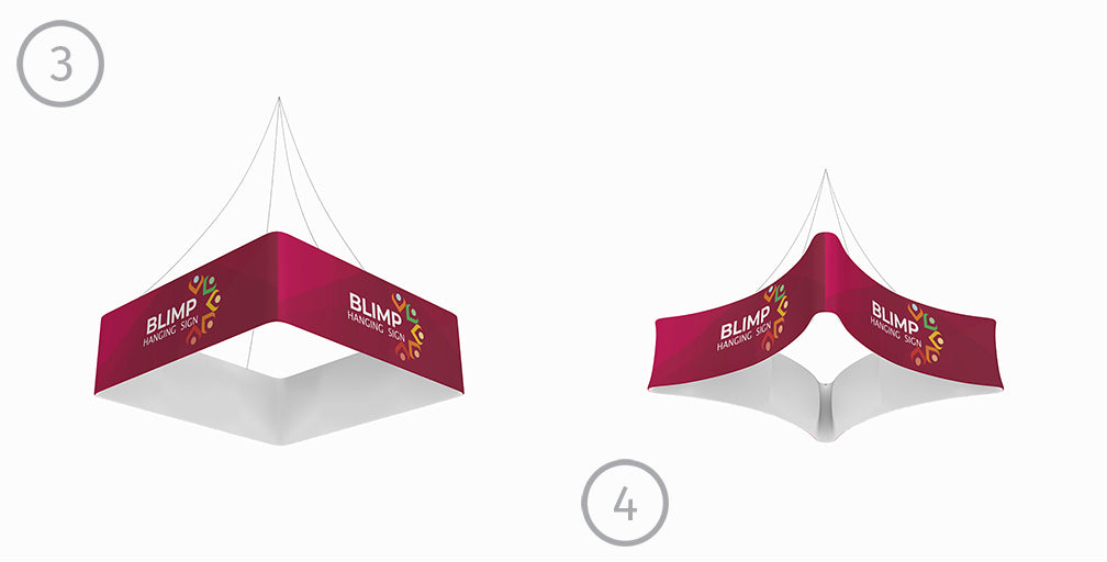 hanging banner system for trade shows and exhibits