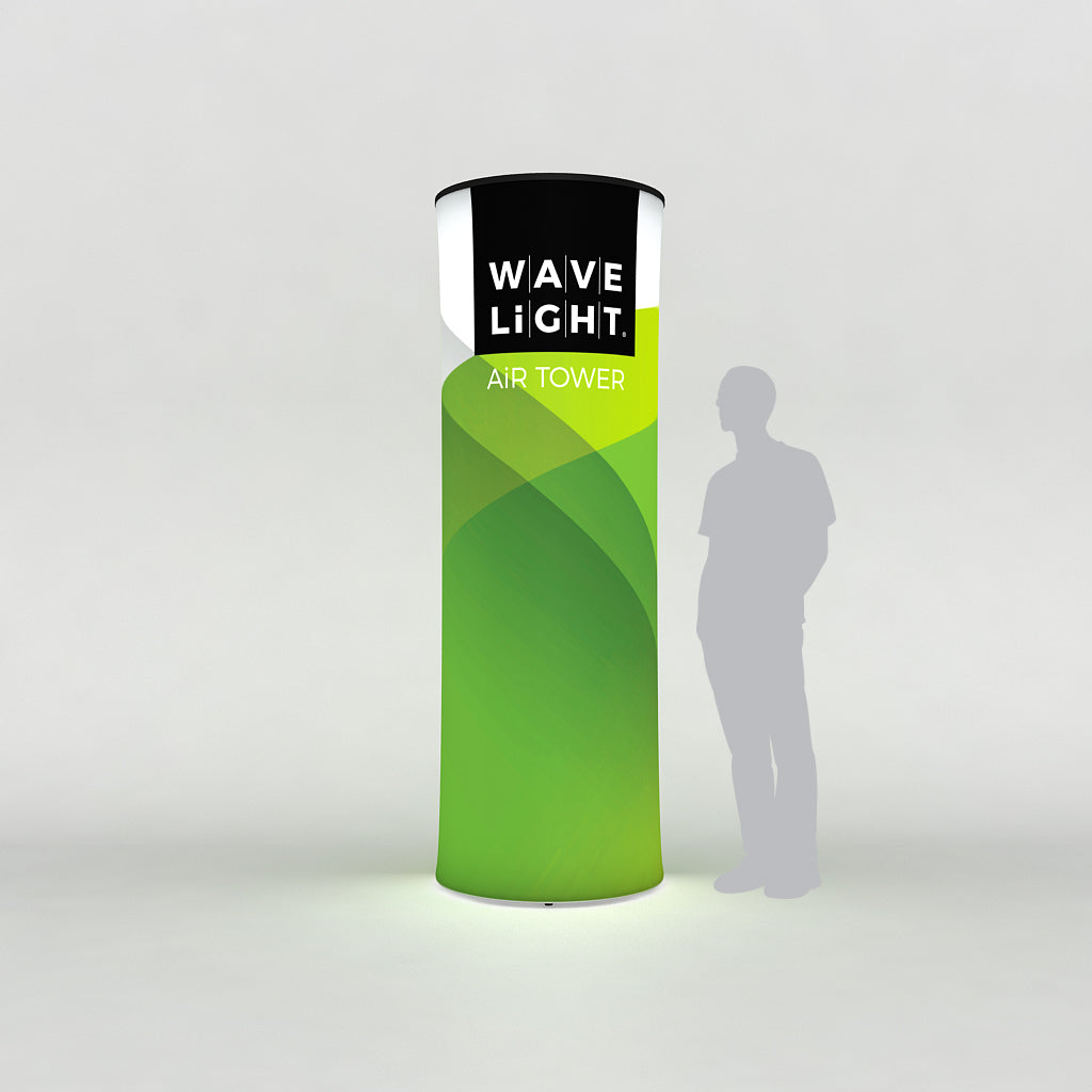 WaveLight LED Backlit Inflatable Circular Tower  for Trade Shows and Exhibits