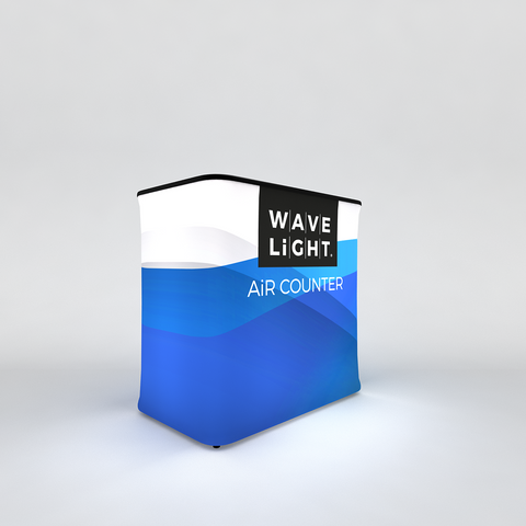 WaveLight LED Backlit Inflatable Counter Rectangular
