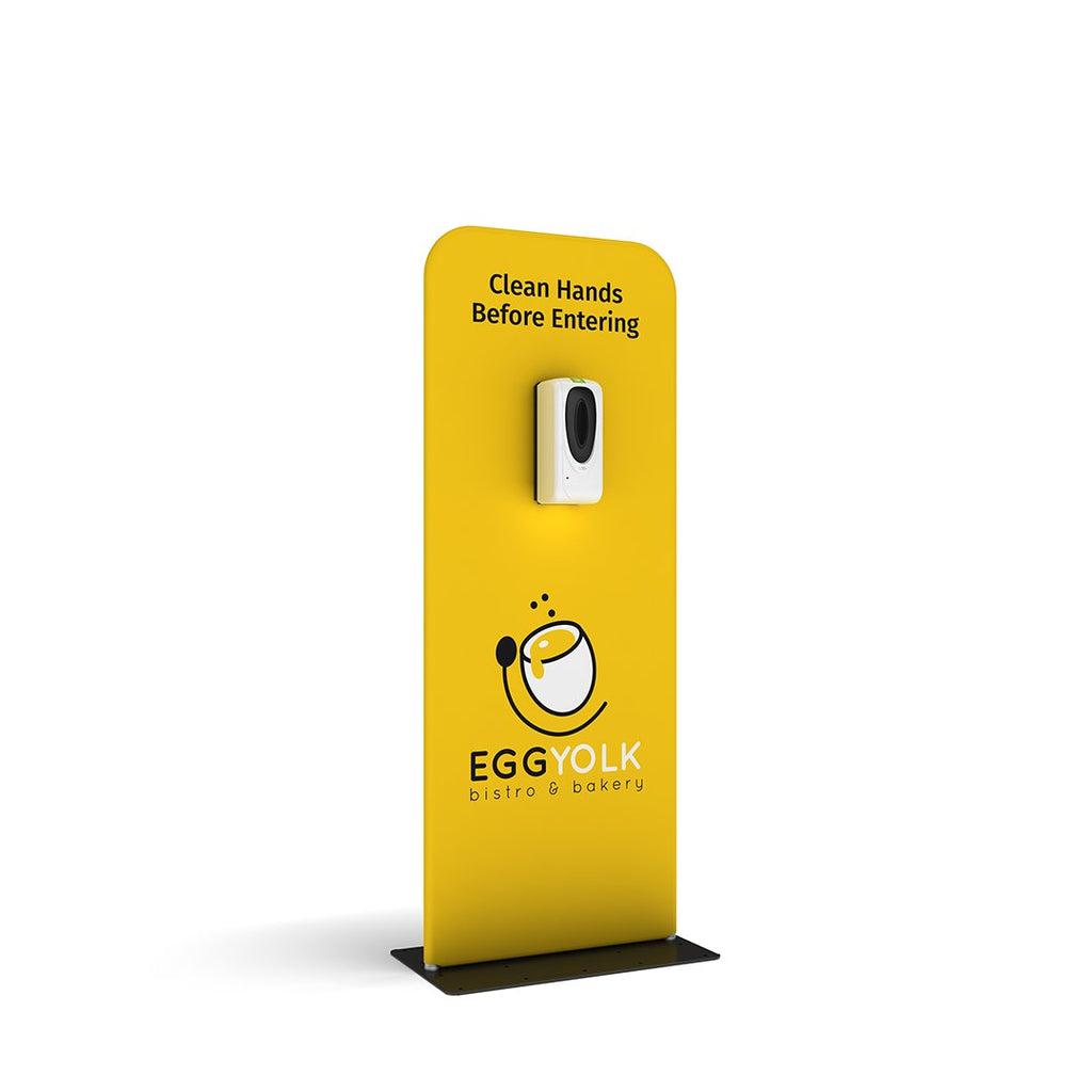 hanz automatic hand sanitizer dispenser with portable stand custom branded