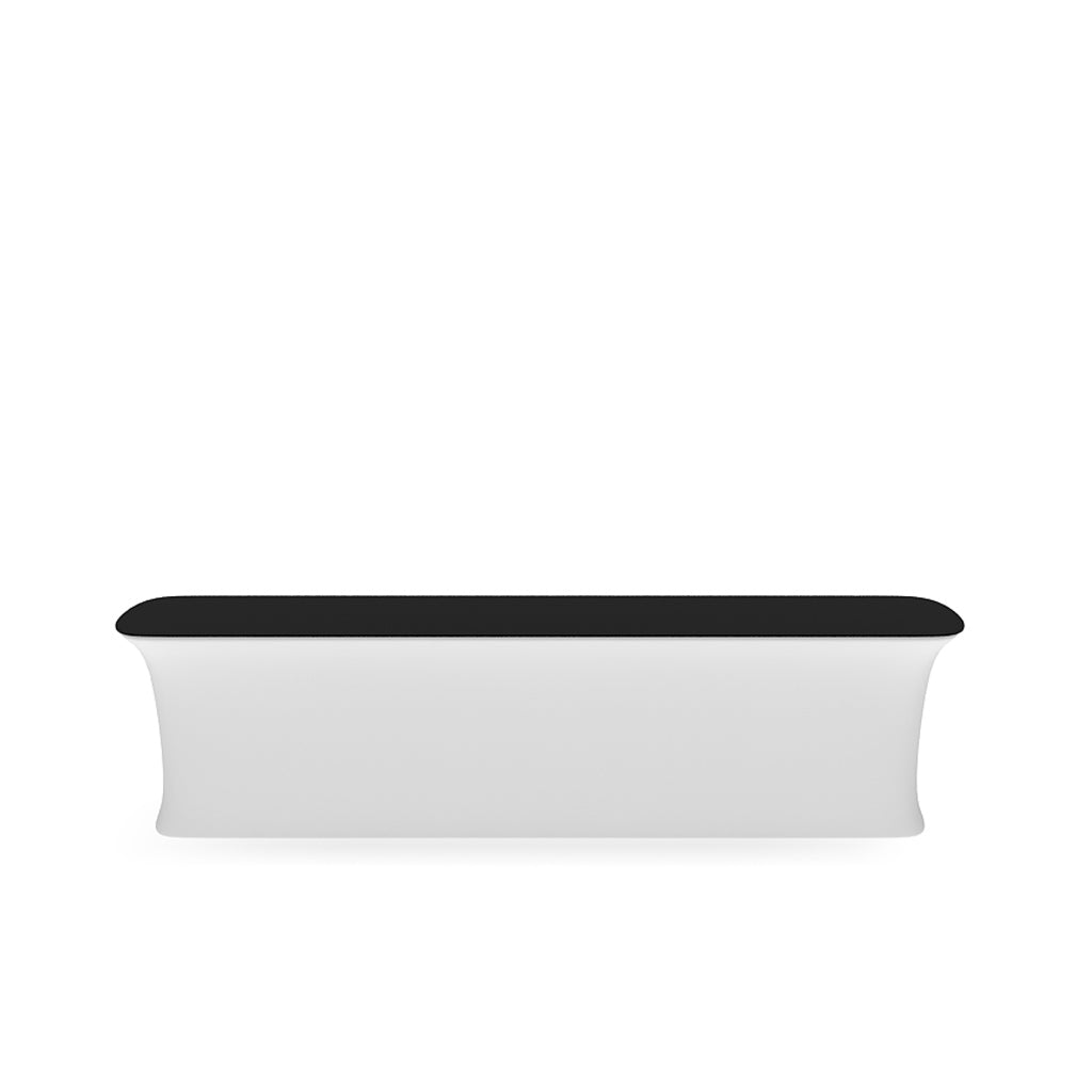 WaveLine InfoDesk Counter and information desk for trade shows and events front view blank