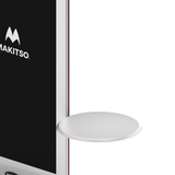 Makitso Blade Digital Signage Kiosk with round shelf