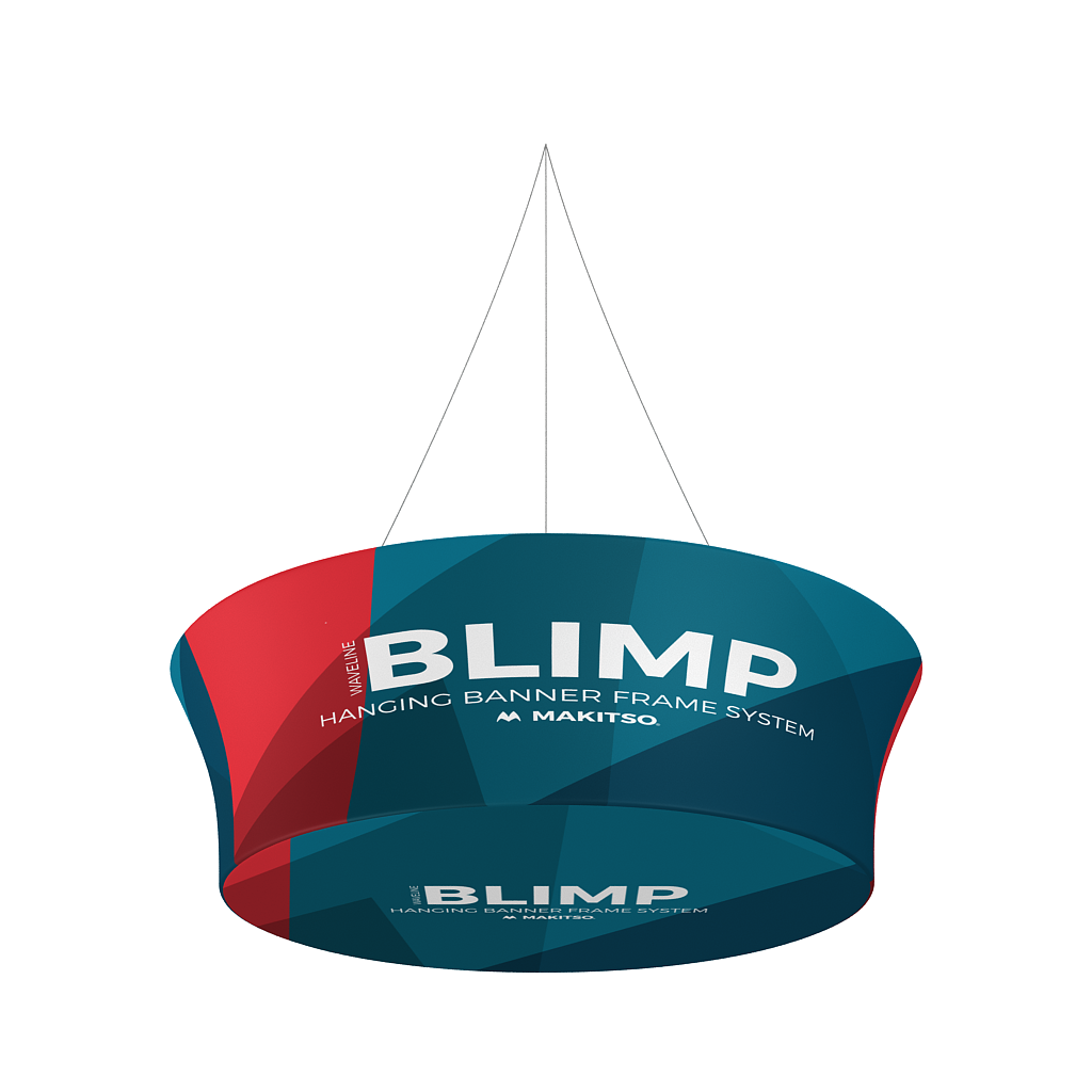 Makitso Blimp Tapered Tube Hanging Banner System closed face