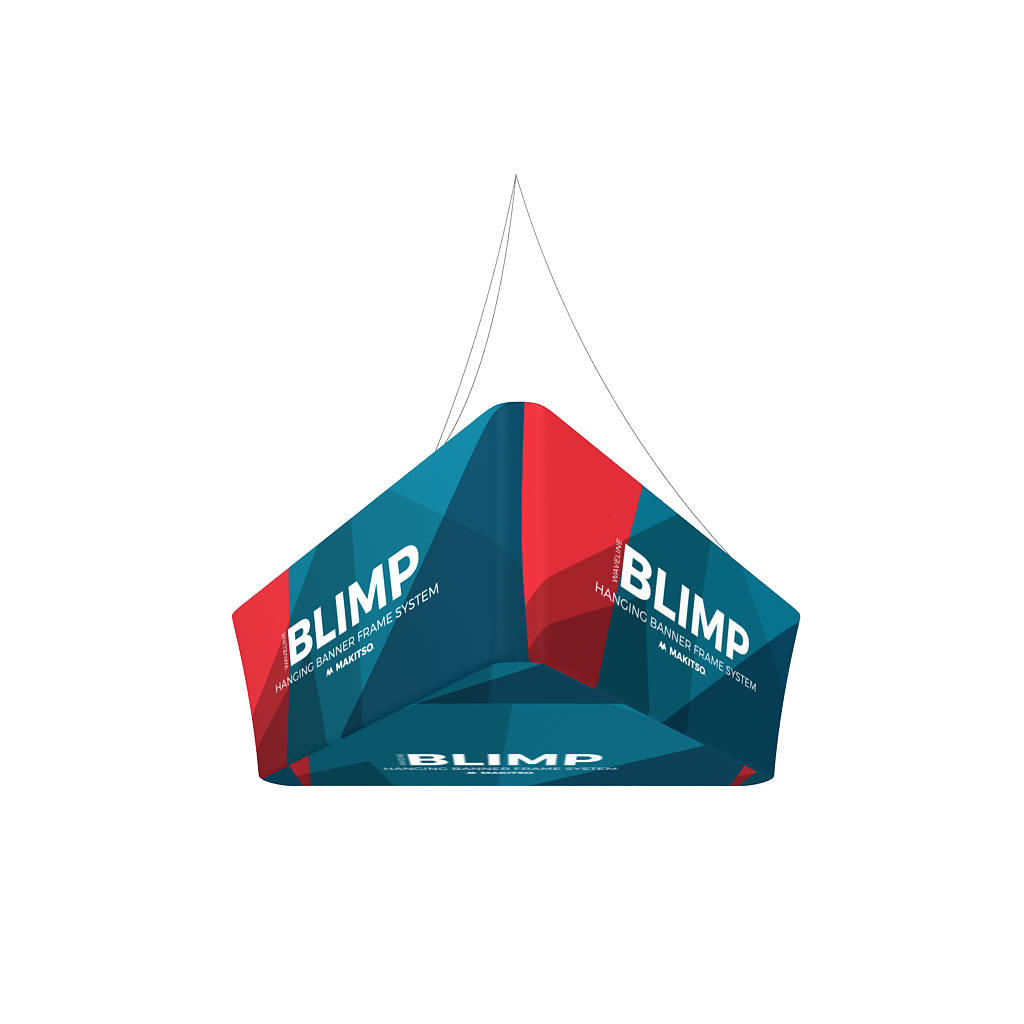Makitso Blimp Tapered Trio Hanging Banner System