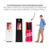 "Makitso® Concierge Digital Retail Kiosk Solutions 21.5"" White, Black and Custom Printed"