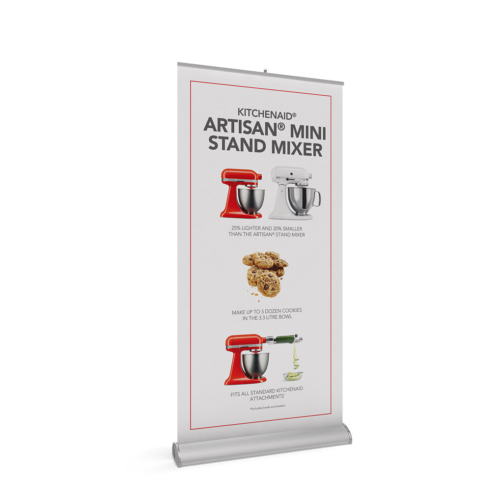 BrandStand 3.5 Rollup Retractable Banner Stand Silver