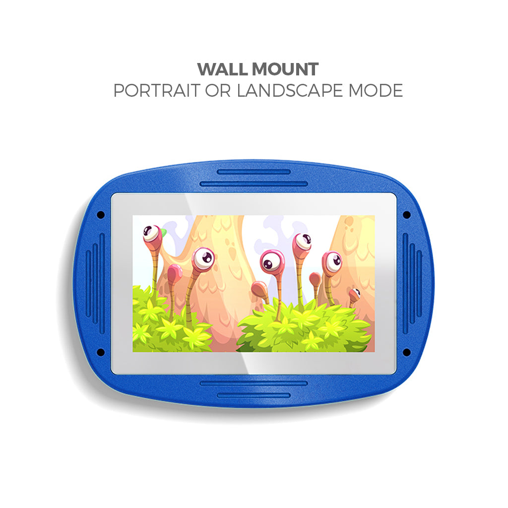 Makitso 4k Interactive Children's Touch Screen Monitor Table Blue Wall Mount