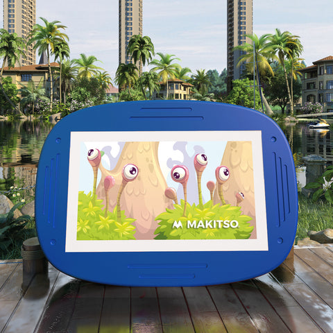 Makitso 4k Interactive Children's Touch Screen Monitor Table Blue Outdoor