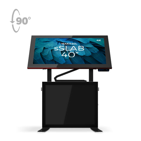 "Makitso Slab 40""4K Digital Signage and Table Top Display Black"